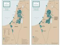 """Трамп опубликовал карту границ Израиля и Палестины после """"сделки века"""" - «В мире»"""